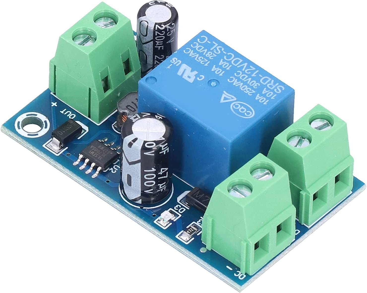 Battery Controller Module DC 12V to 48V Power Automatic Emergency Switch Power OFF Protection Board Relay Battery Charger Battery Protector