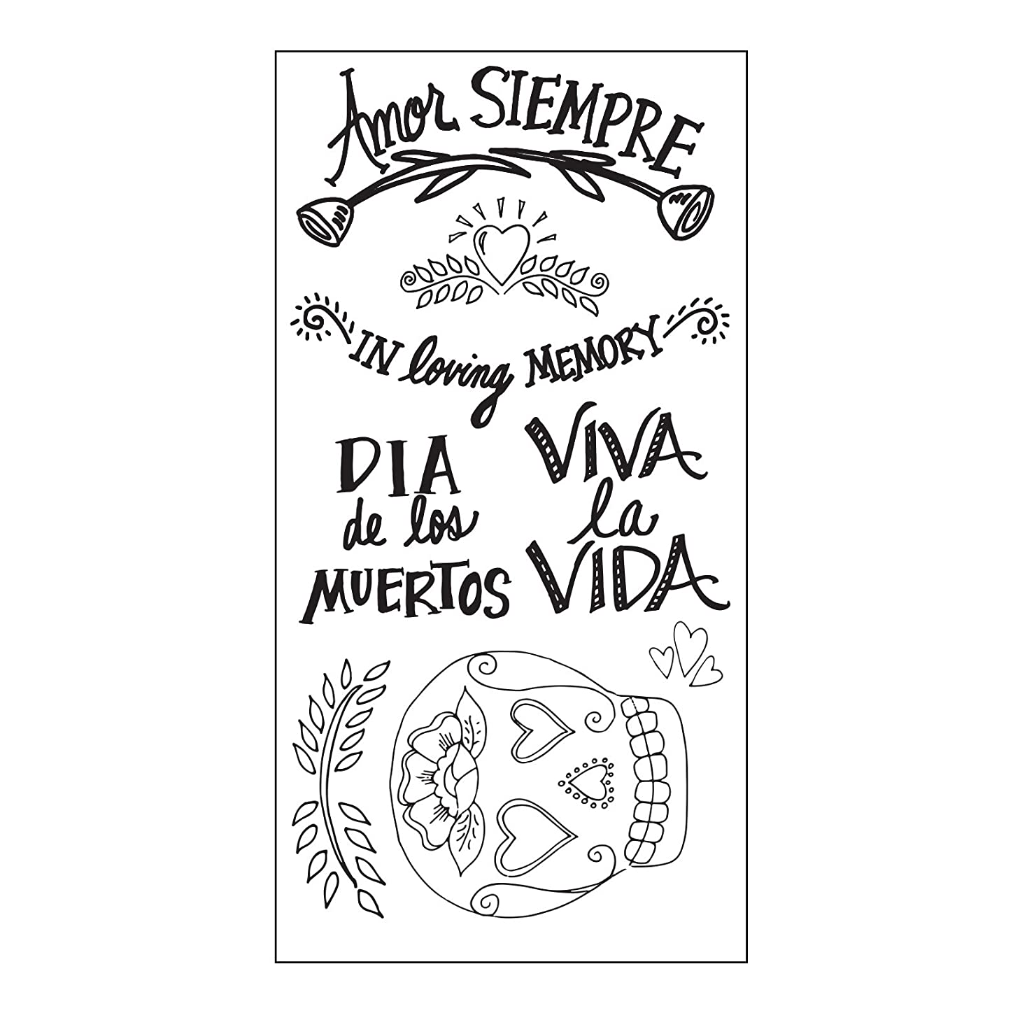 Sizzix 661317 Clear Stamps, Day of The Dead by Crafty Chica