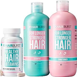 Hairburst Set di Shampoo, Balsamo & Vitamine Naturali per la Crescita dei Capelli – Shampoo & Balsamo Anti Caduta Per Cape...
