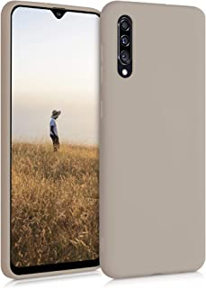 kwmobile TPU Silicone Case Compatible with Samsung Galaxy A30s - Soft Flexible Protective Phone Cover - Cream Matte