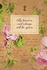 Notebook: Diary I 120 pages plain I Jane Austen I Lady I Regency I 6x9 inch (corresponds to approx. DIN A5) I wedding I vintage I roses I romantic Taschenbuch