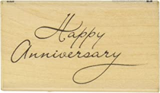 Inkadinkado 'Happy Birthday' Mounted Rubber Stamp for Card Making and Scrapbooking, 1.75'' x 2.5''