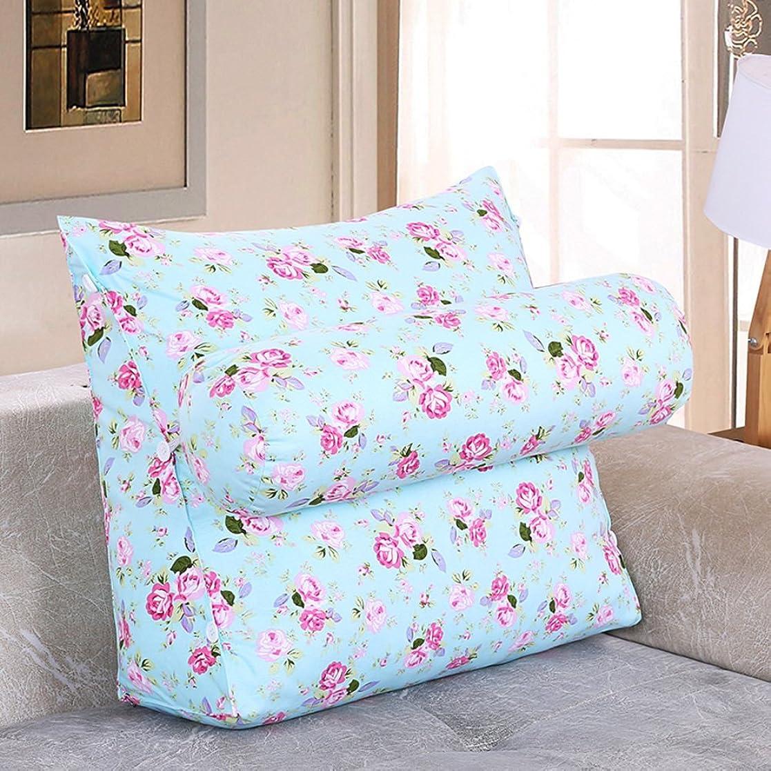 ガレージレモン素晴らしい良い多くの2J-QingYun Trade ベッドサイド三角ウェッジ、取り外し可能なウエストバッククッションオフィスバッククッションソファ枕 (Color : K, サイズ : 45x45x20cm(18x18x8inch))