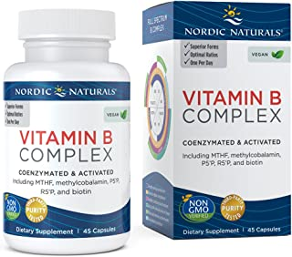 Nordic Naturals Vitamin B Complex - Coenzymated and Activated, Supports Daily Cellular Maintenance, Non-GMO and Certified Vegan - 45 Count