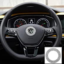 TopDall Steering Wheel Bling Crystal Shiny Diamond Accessory Interior Sticker Compatible for VW
