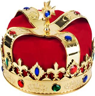 Name: Royal Jeweled King's Crown - Costume Accessory