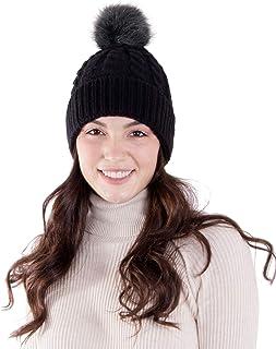 AbbyLexi Women's Knit Winter Hat Pom Pom Beanie