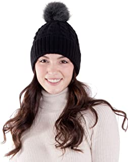 AbbyLexi Women's Knit Winter Hat Pom Pom Beanie