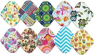 10 Pieces 8 Inch Light Bamboo Mama Cloth/ Menstrual Pads/ Reusable Sanitary Pads Panty liner