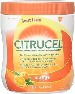 Citrucel Fiber Therapy Orange Flavor 16 Ounce