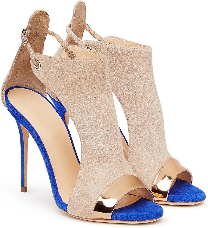 AIWEIYi Womens High Heel Open Toe Buckle Strap Platform Evening Dress Casual Pump Sandal shoes Red