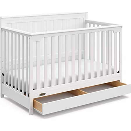Graco Hadley 4-in-1 Convertible Crib with Drawer, White