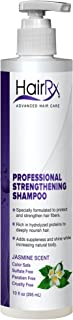 HairRx Professional Strengthening Shampoo with Pump, Light Lather, Jasmine Scent, 10 Ounce