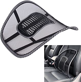 Air Flow Lumbar Support Cushion car Seat Supports Cushion waist pad Comfortable Mesh Chair Relief Lumbar Back Pain Support...