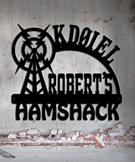 Ham Radio - Amateur Radio - Call Letters - Hamshack - Custom Metal Sign - 23 x 20.25 Hand Made USA