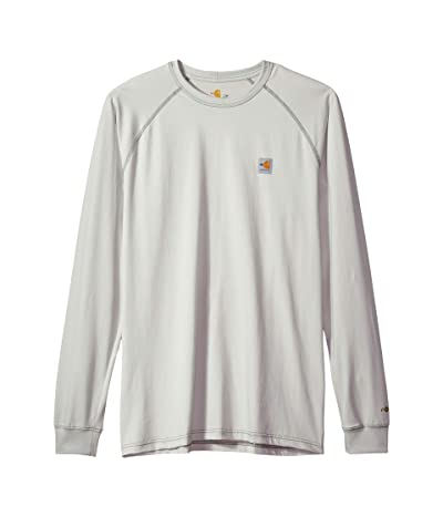 Carhartt Big Tall Flame-Resistant Force Long Sleeve T-Shirt (Light Gray) Men