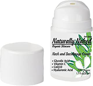 Neck and Décolletage Cream, 1.7 oz (50 ml), Tighten, Firm and Smooth Sagging Neck and Chest Skin, Wrinkles & Fine Lines. A...