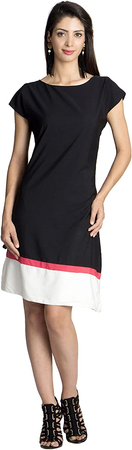 MOHR Women's Dress with Color Blocking
