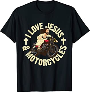 Jesus Motorcycle Rider Dirt Bike Christian Gift T-Shirt