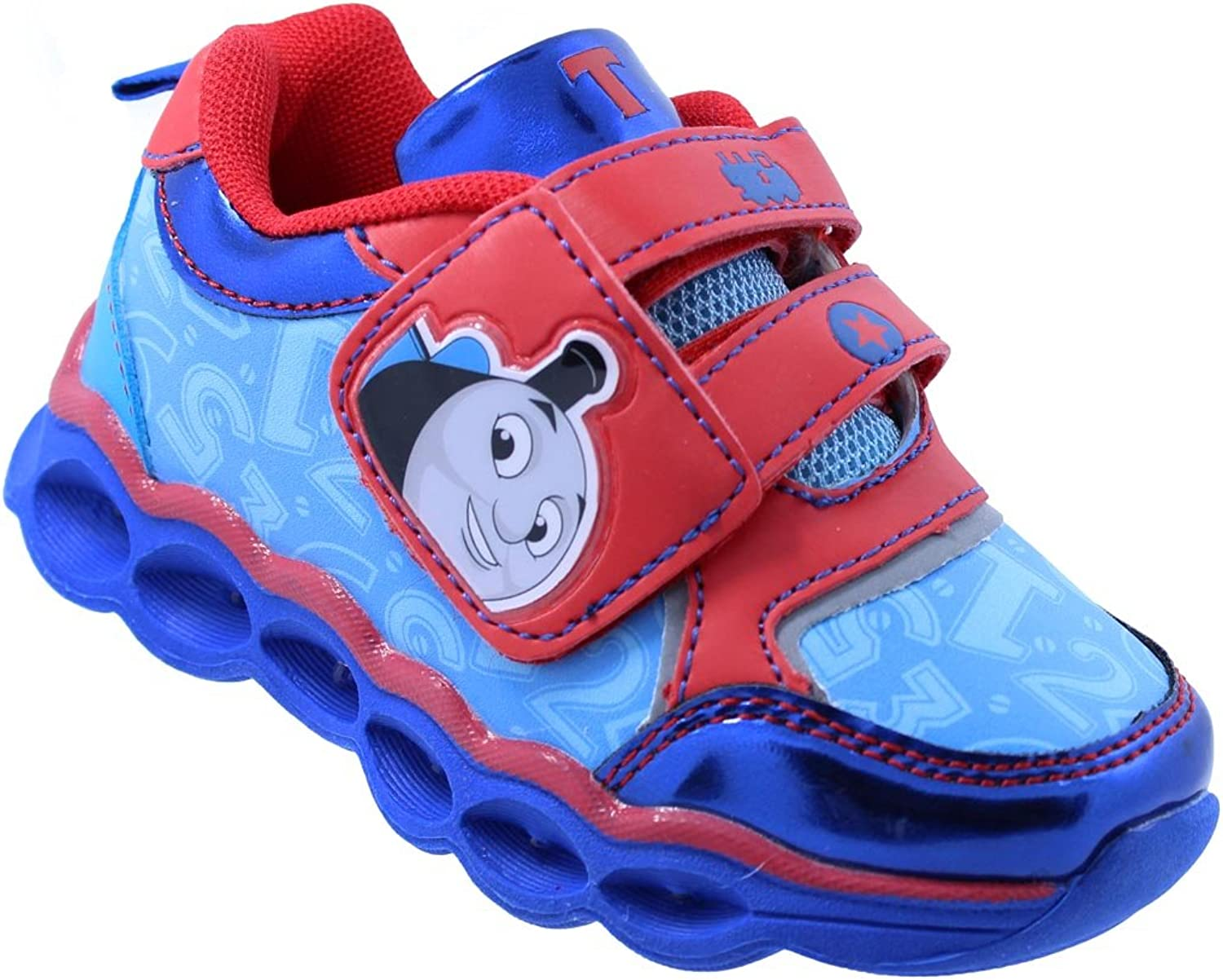 Thomas The Train Toddler Boys' Light-Up Athletic Running shoes Sneaker Red blueee