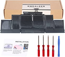 SWEALEER A1417 Battery Compatible for MacBook Pro 15 inch Retina A1398 Mid 2012 Early 2013 Laptop, Replacement MC975LL/A MC976LL/A ME664LL/A ME665LL/A MD831LL/A [New 10.95V 95Wh A1417]