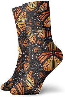 Dydan Tne, Montones de Calcetines Naranjas de Las Mariposas monarca Calcetines Divertidos Calcetines Locos Calcetines Casuales para niñas Niños