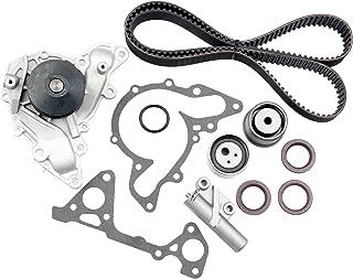 cciyu Timing Belt Water Pump Kit TBK259 WP5025 Fit 2.5L 3.0L 6G72 6G73 Chrysler Sebring Cirrus Dodge Stratus Avenger Mitsubishi Eclipse Montero Sport Galant V6 SOHC