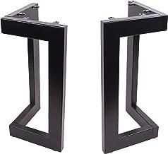 ECLV 2X 18'' Bench Legs,Dinning L-Shaped Steel Table Legs, Coffee Table Legs,Computer Desk Legs,Industrial Kitchen Table Legs,Black