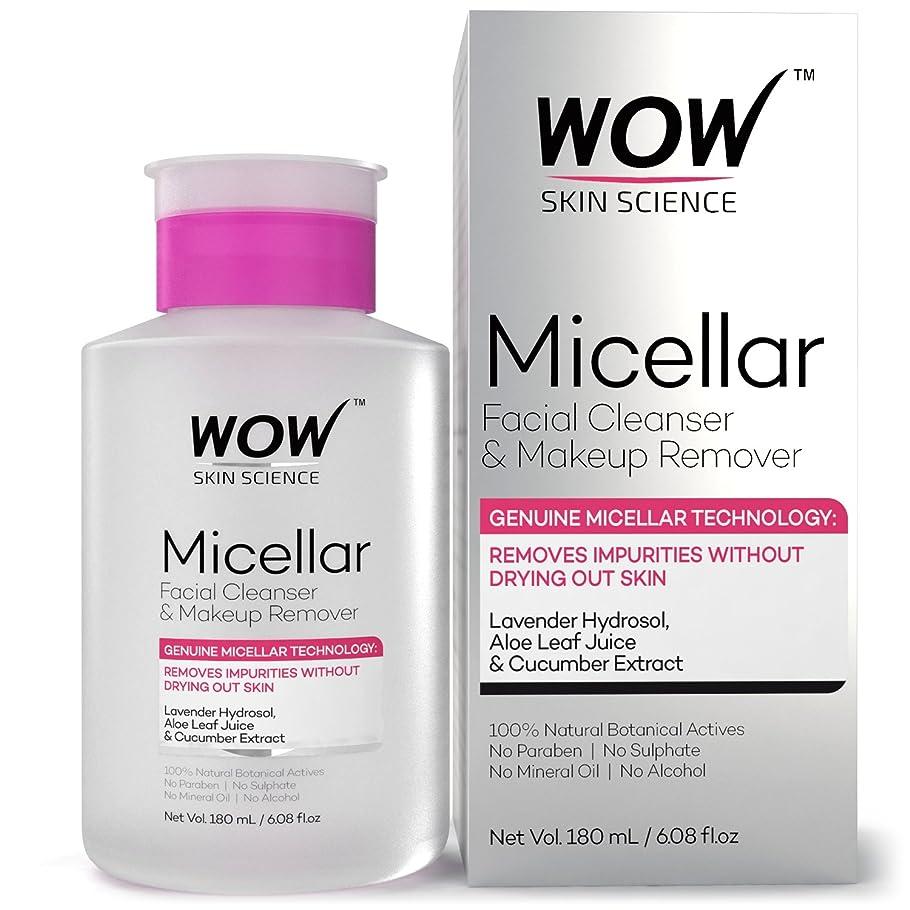 導入するアクセル入り口WOW Micellar Facial Cleanser & Make Up Remover No Parabens, Sulphates, Mineral Oil, Alcohol & Synthetic Fragrance Water, 180mL