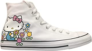 Converse Chuck Taylor All Star Lo Hello Kitty Fashion Sneakers (8 M US Women / 6 M US Men, White/Pink/White)