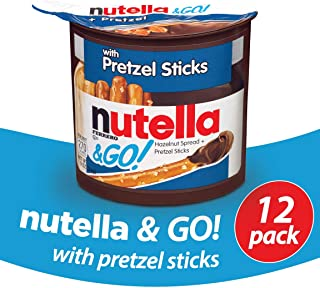 Nutella and Go Snack Packs, Chocolate Hazelnut Spread with Pretzel Sticks, 1.9 Ounce,12 Count