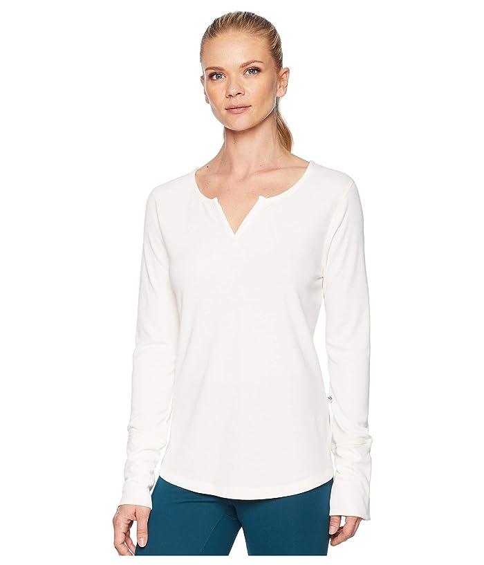 Womens Blue Print S Mountain Hardwear Daisy Chain Split-Neck Long-Sleeve Top
