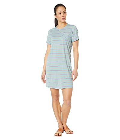 Smartwool Merino 150 Short Sleeve Dress (Wave Blue Stripe) Women
