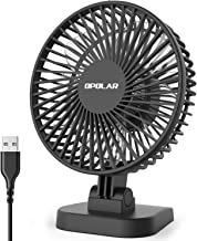 OPOLAR 2019 New Mini USB Powered Desk Fan with 3 Speeds, Strong Airflow but Whisper Quiet, 40° Adjustment, Portable Personal Fan for Desktop Office Table, Small but Mighty-White
