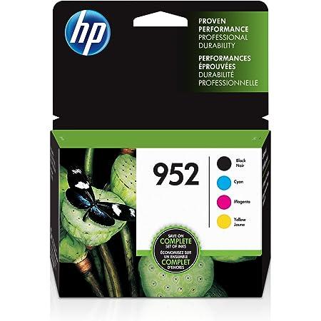 HP 952 | 4 Ink Cartridges | Black, Cyan, Magenta, Yellow | F6U15AN, L0S49AN, L0S52AN, L0S55AN