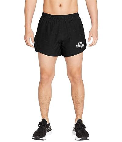 Nike Fast 5 Brief Shorts Heritage (Black/Heather/White) Men