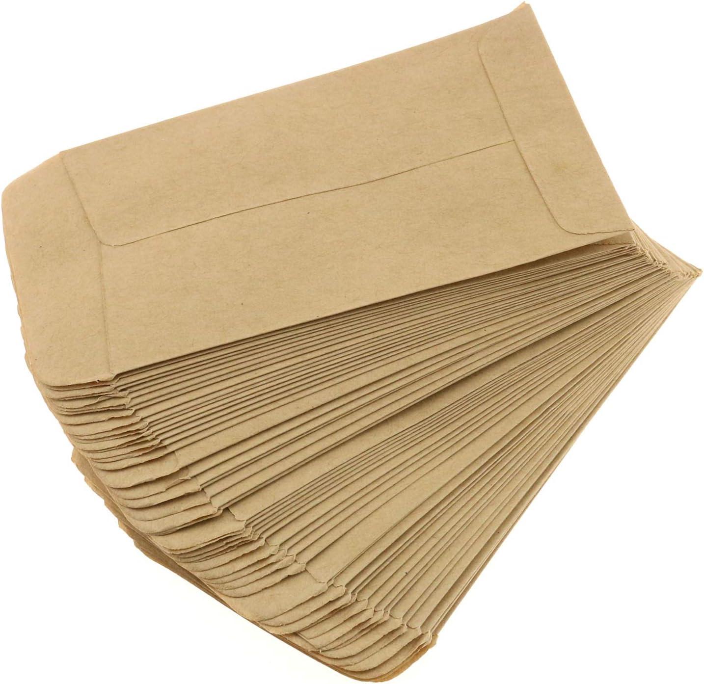 DGZZI Seed Superlatite Envelope 100 PCS Pap 2.36x4.33Inch Max 58% OFF Kraft Brown 6x10cm