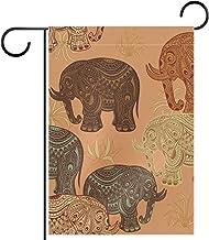 Tuin Vlag, Decor Yard Banner Boerderij Outdoor Decoratie Olifant naadloos patroon Verticale 28x40 Inch