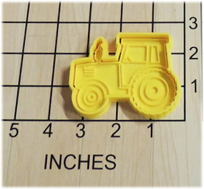Farming Tractor Shaped Cookie Cutter And Stamp 1271