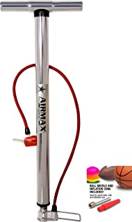 Airmax Sports Ball Air Pump for Car Bike Cycle Scooter Motorcycle Tyre Inflator and Inflatable Furniture Toys