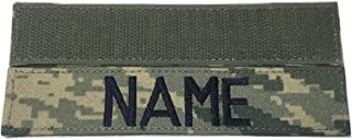 Custom Military Name Tape, with Fastener or Sew-On, US ARMY USAF USMC POLICE CivilAirPatrol Tape (With Fastener, ABU Air Force)