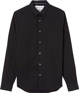 Calvin Klein Jeans Men's Ck Chest Logo Slim Stretch Shirt