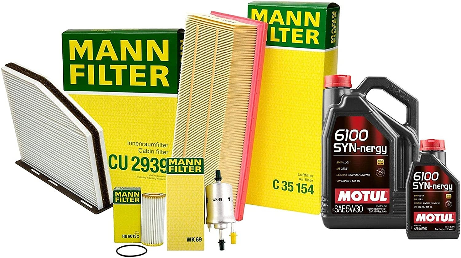 6L 6100 SYN-NERGY 5W30 Attention brand Oil Filter Product kit Service Compatible VW with