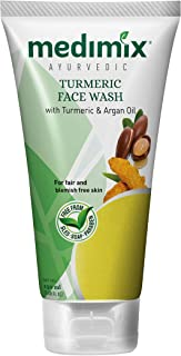 Medimix Ayurvedic Turmeric Face Wash with Turmeric and Argan Oil for Bright and Clear Skin (150 ml)