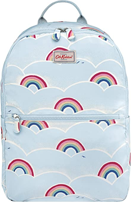 Cath Kidston - Kids Foldaway Backpack School Bag Lunchbag Sports Bag - British Designer - Rainbows