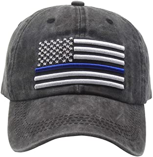 OASCUVER Men's USA American Flag Hat Cotton Adjustable Patriotic Freedom Baseball Cap Dad Hat Gift