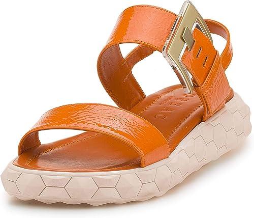 Lorbac , Sandales pour Femme Orange Arancione