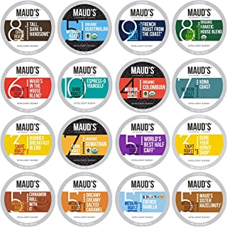 Maud's Coffee Lover's Variety Pack, 40ct. Recyclable Single Serve Coffee Pods - Richly satisfying arabica beans California Roasted, k-cup compatible including 2.0