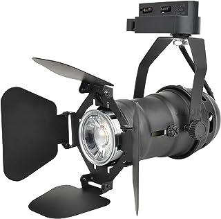 J.LUMI TRK9601 LED Track Light Head, Vintage Industrial Track Light, Line Voltage Track Head for Art and Wall Decoration, 5W LED Spotlight Bulb Included, Adjustable Title Angle, Black