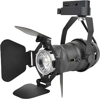 J.LUMI TRK9601 LED Track Lighting Head, Vintage Industrial Track Light, Line Voltage Track Head for Art and Wall Decoration, 5W Spot Light Bulb Included, Adjustable Title Angle, Black